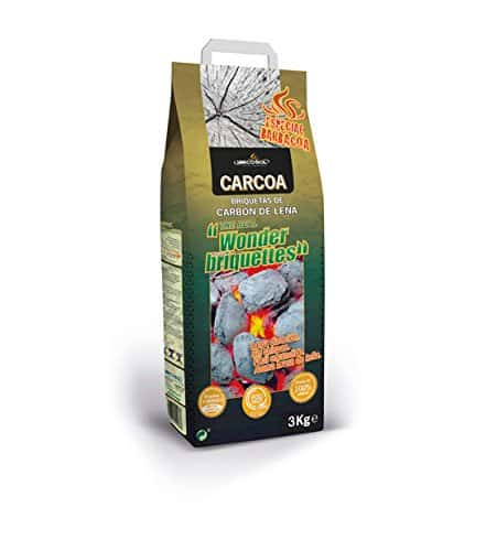 Carcoa Wonder - Briquetas de carbón vegetal, 3 kg, color negro