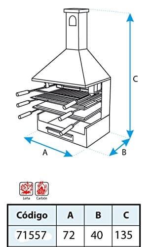 El zorro M263847 - Cajon chimenea parrilla y plancha 71557